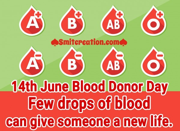 Few Drops Of Blood Can Give Someone A New Life