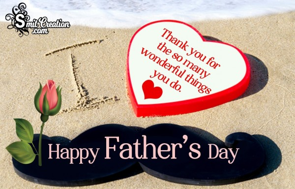 Happy Father's Day – Thank You Card