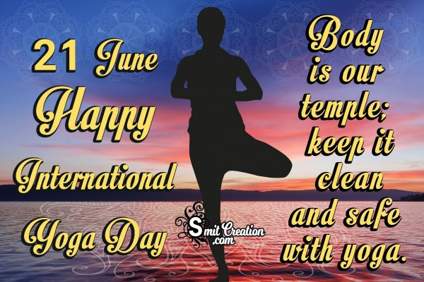 21 June Happy International Yoga Day