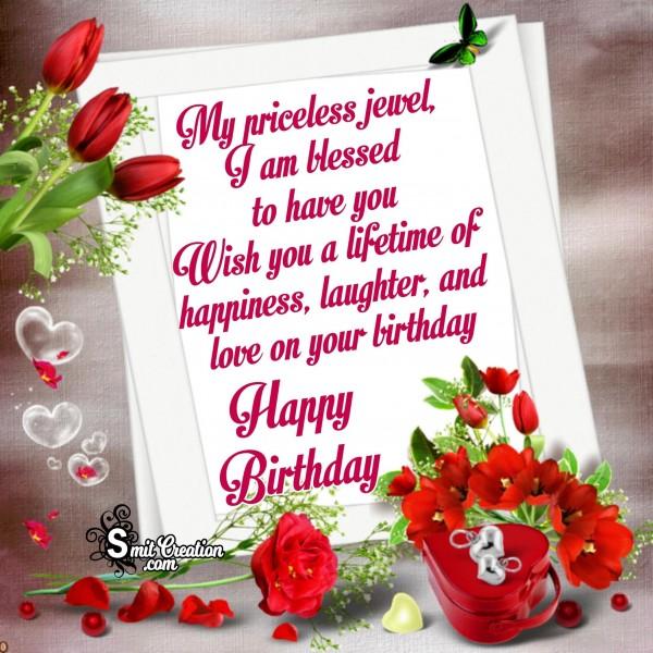 Happy Birthday My Priceless Jewel
