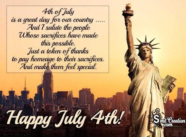 Happy July 4th!