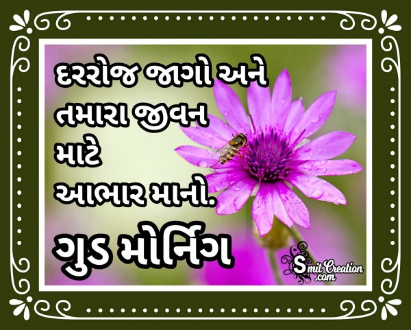 Good Morning Quote In Gujarati