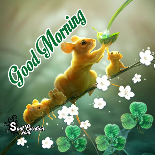 Good Morning Cute Mouse Image