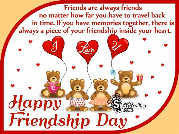 Happy Friendship Day Quote Image