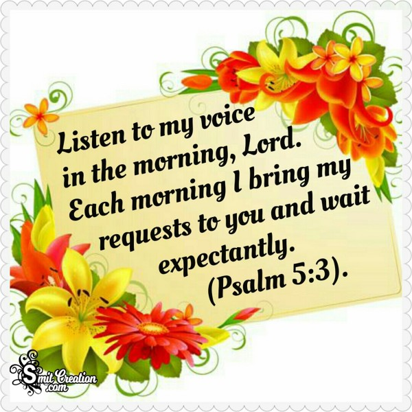 Morning Bible Verses