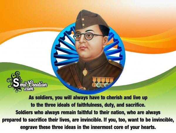 Independence Quote By Netaji Subhash Chandra Bose