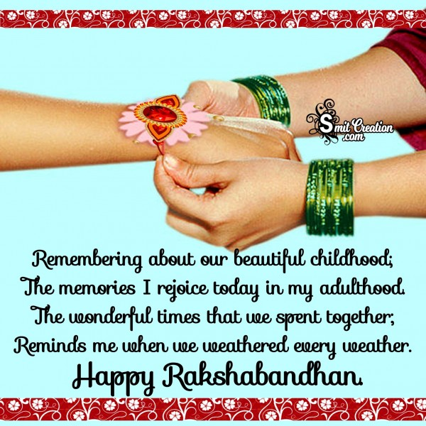 Wishing You A Joyous Raksha Bandhan!