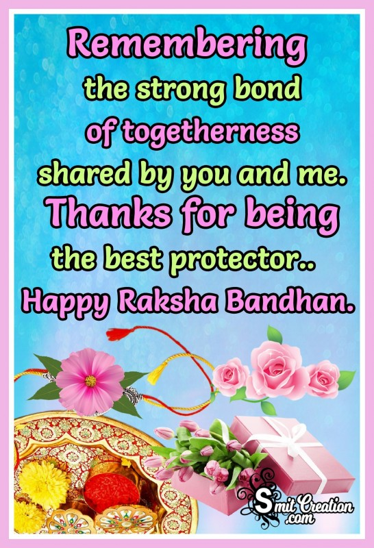 Happy Rakshabandhan – Thanks For Being The Best Protector