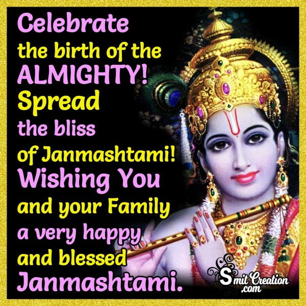 Wishing You A Very Happy And Blessed Janmashtami.