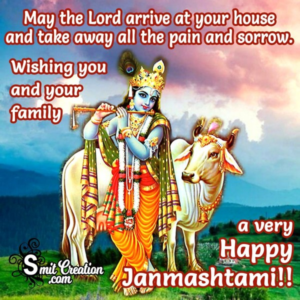 Wishing You And Your Family A Very Happy Janmashtami!!
