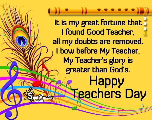 Happy Teachers Day To Good Teacher