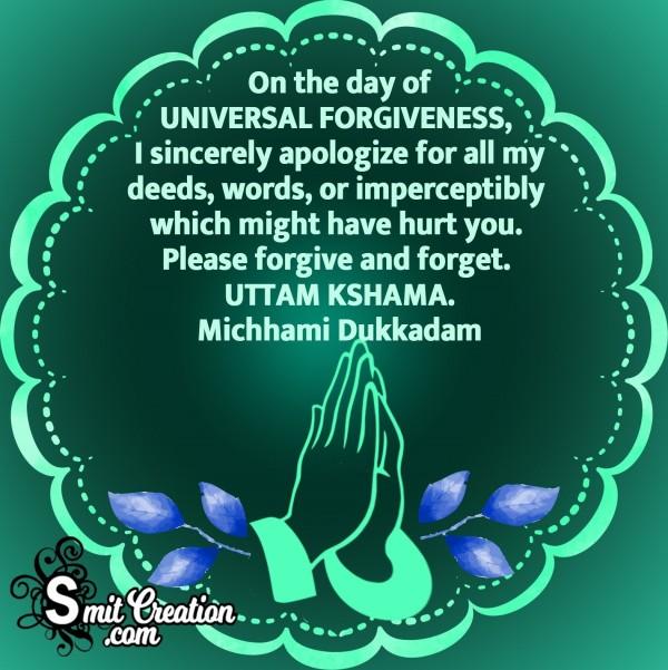 On The Day Of Universal Forgiveness Michhami Dukkadam