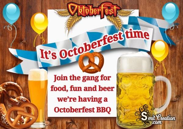 It's Oktoberfest Time