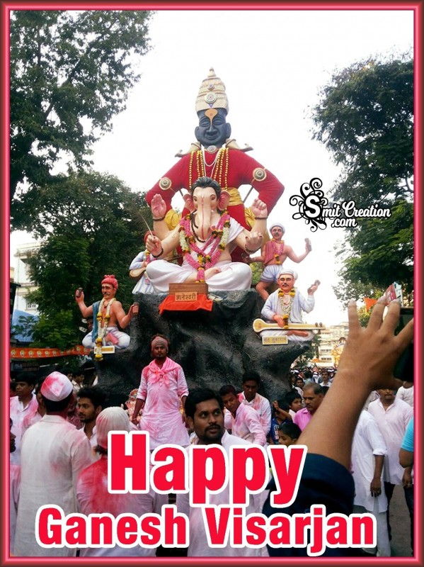 Happy Ganesh Visarjan