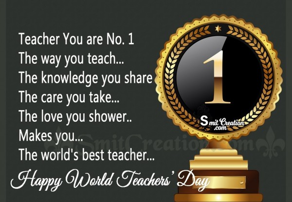 Happy World Teachers' Day To No.1 Teacher