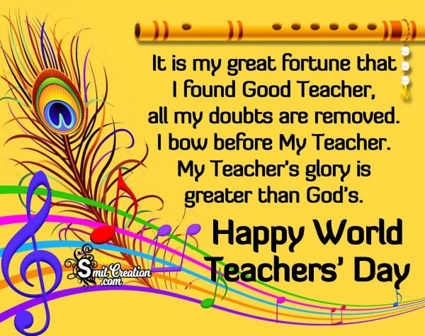 Happy World Teachers' Day To Good Teacher