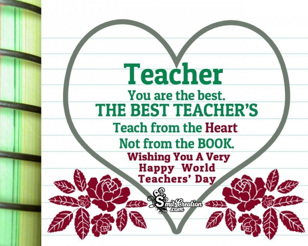 Happy World Teachers' Day To Best Teacher