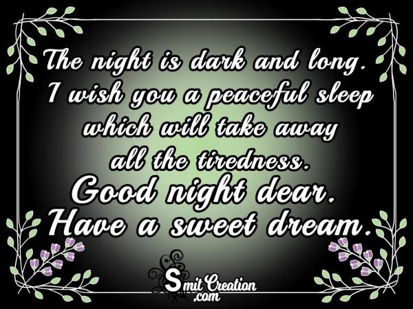 I Wish You A Peaceful Sleep