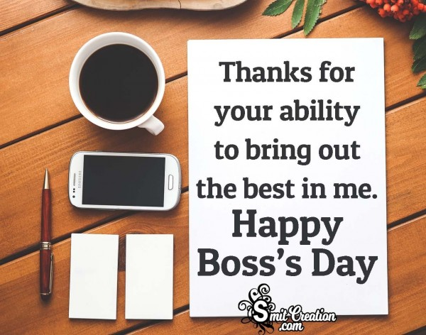 Thanks On Boss's Day