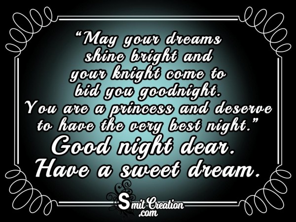 Good Night – May Your Dreams Shine Bright