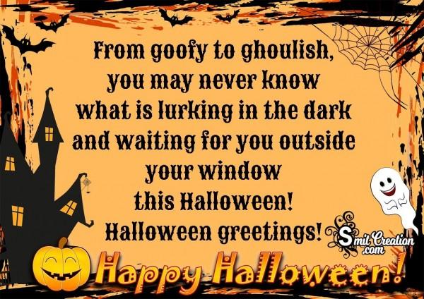 Happy Halloween Greetings!