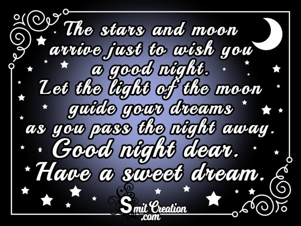The Stars And Moon Wish You A Good Night.