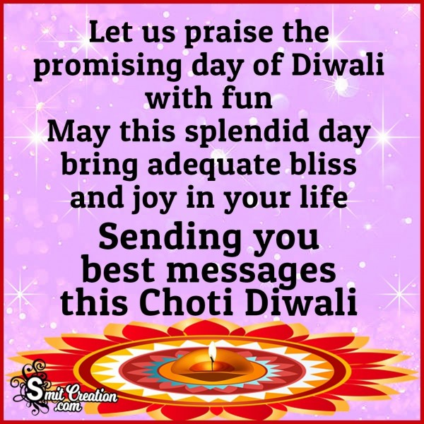 Sending You Best Messages This Choti Diwali