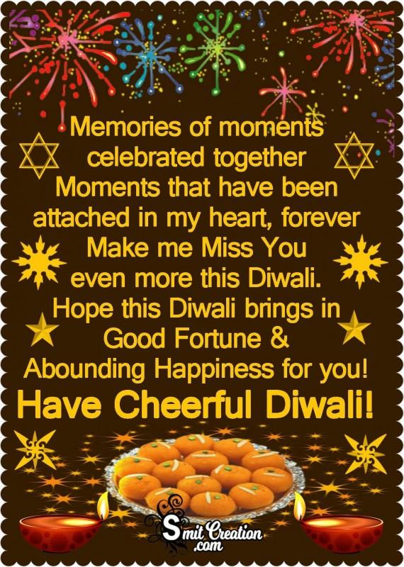 Have Cheerful Diwali!