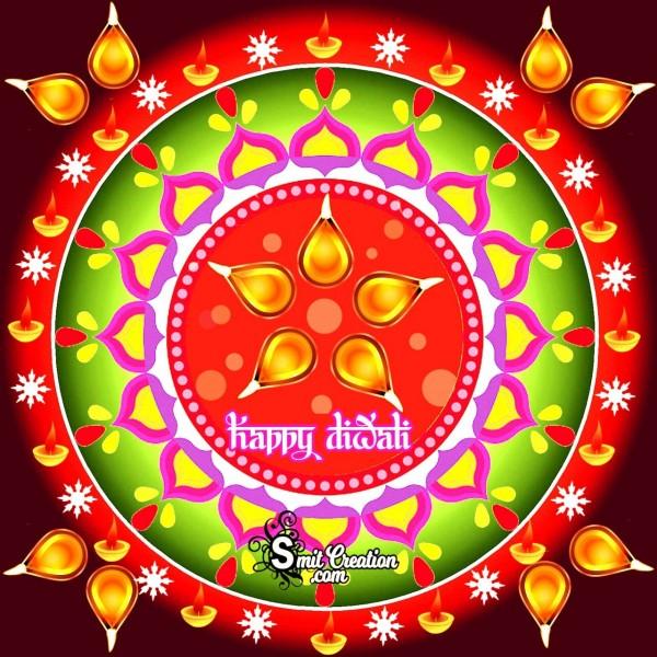 Happy Diwali Rangoli Card
