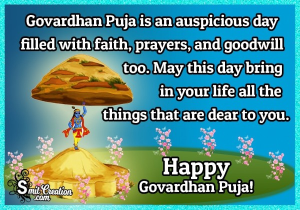 Happy Govardhan Puja Greetings