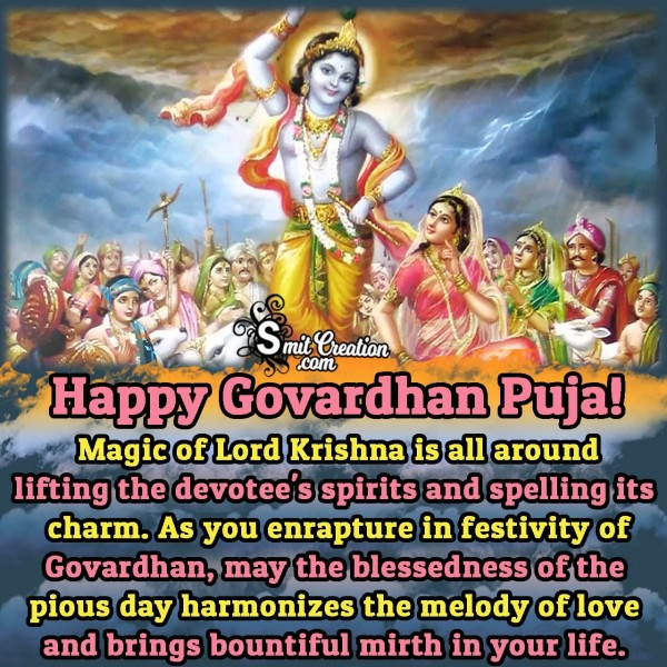Govardhan Puja Wishes, Quotes, Messages Images