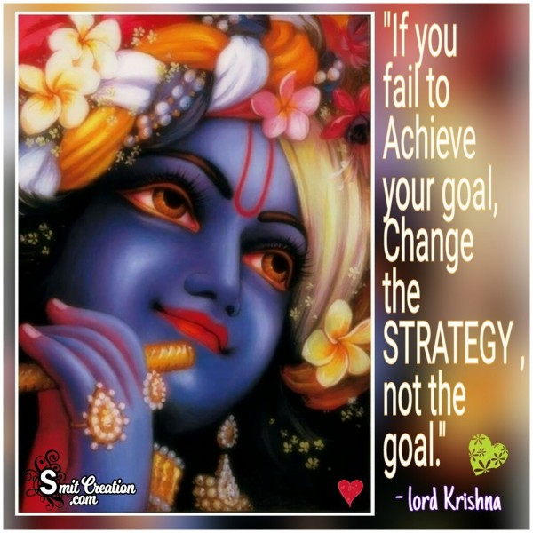 Change The Strategy Not The Goal
