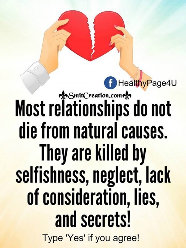 Most Relationships Do Not Die From Natural Causes