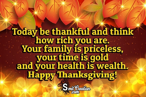 Happy Thanksgiving Quote For Thankful