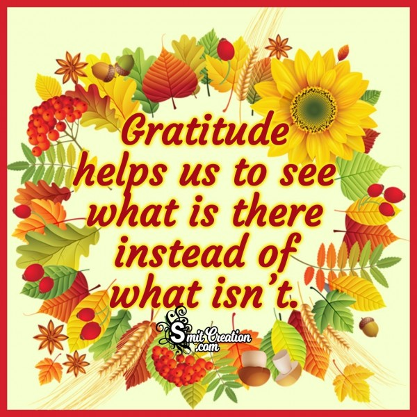 Thanksgiving Gratitude Quote