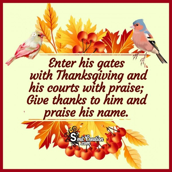 Thanksgiving Praising Quote