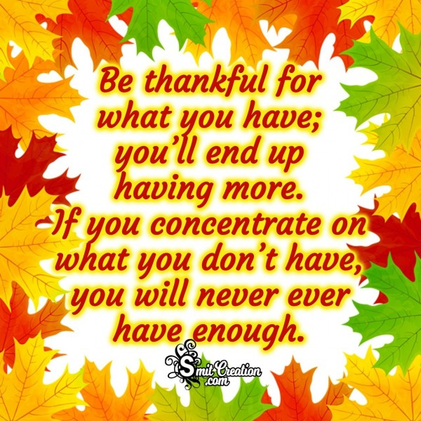 Thanksgiving Thoughtful Quote