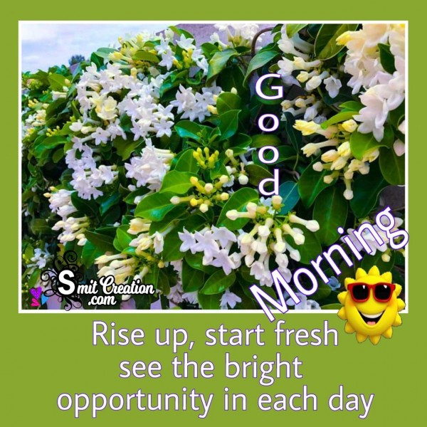 Good Morning Rise Up Start Fresh
