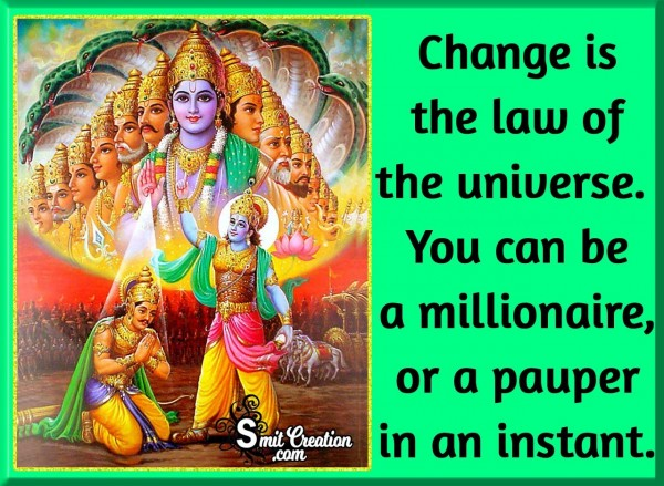 Change Is The Law Of Universe