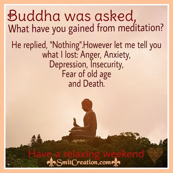 Buddha Was Asked What Have You Gain From Meditation