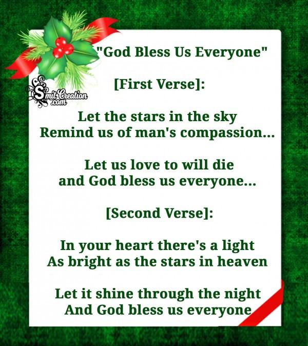 """God Bless Us Everyone"" Carols"