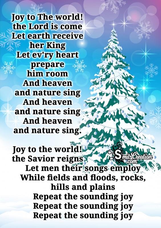 """Joy to the World"" Carols"