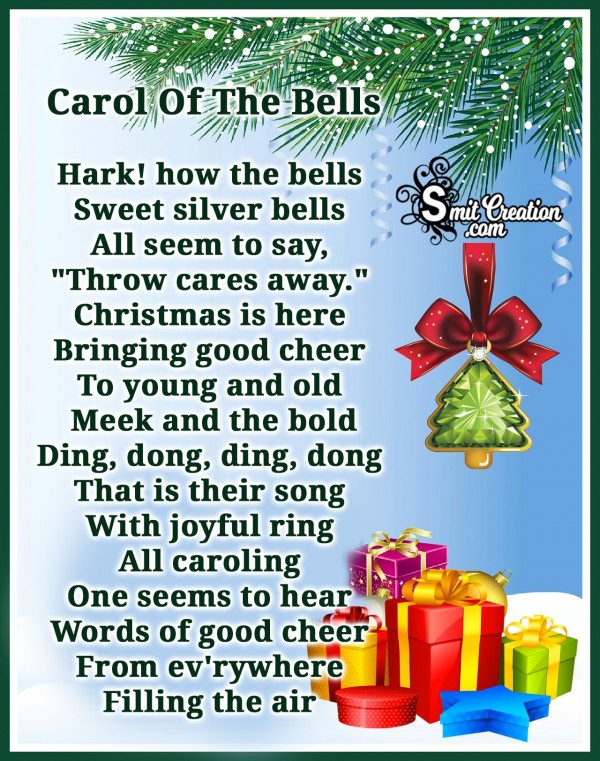 """Carol Of The Bells"" Carols"