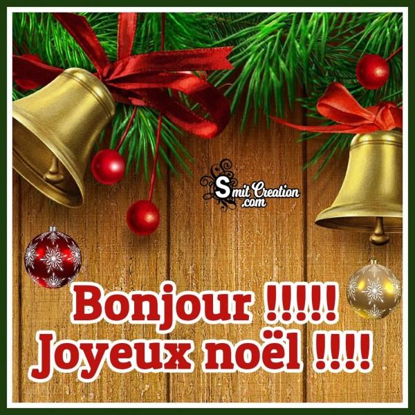 Bonjour Joyeux noël Photo