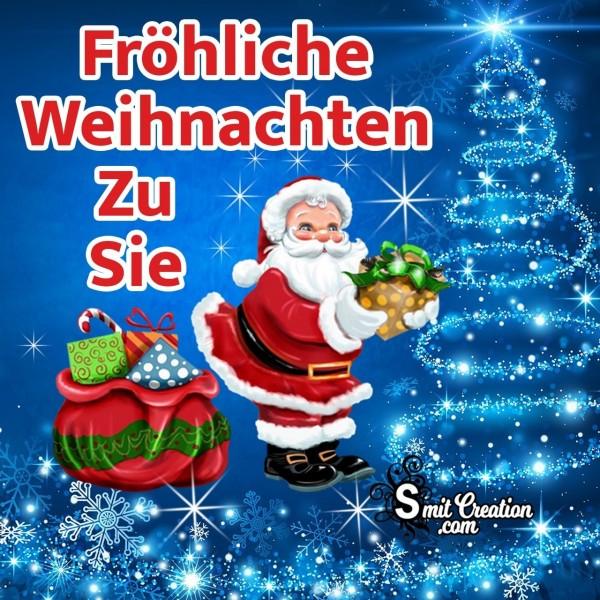 Fröhliche Weihnachten Zu Sie