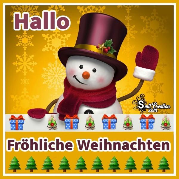 Hallo Fröhliche Weihnachten