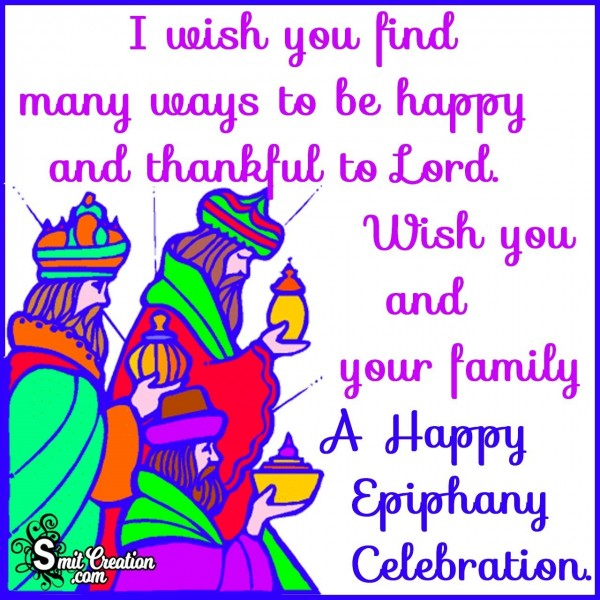 Happy Epiphany Celebration