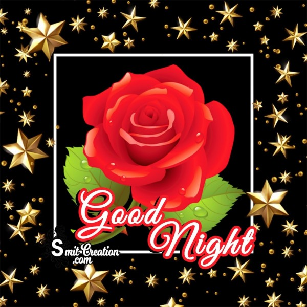 Good Night Rose With Stars