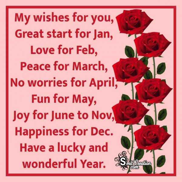 My Happy New Year Wish For You