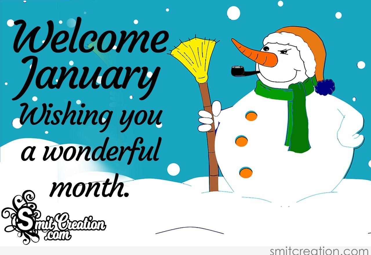 Welcome January Wishing You A Wonderful Month Smitcreation Com